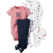 Carter's Preemie Boys Red Sport 4 Pc. Layette Set