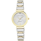 Anne Klein Women's Diamond Accented Two Tone Bracelet Watch 28mm AK/2435SVTT