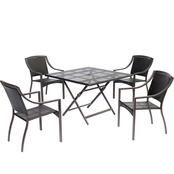 Hanover Orleans 5 pc. Square Dining Table Set