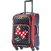 American Tourister Softside Spinner, Minnie Mouse Red Bow