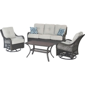 Hanover Orleans 4 pc. All Weather Patio Set