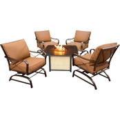 Hanover Summer Nights 5 pc. Tile Top Fire Pit Set