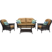Hanover San Marino 4 pc. Outdoor Patio Set