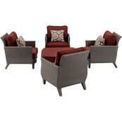 Hanover Outdoor Seneca Chat 5 Pc. Set