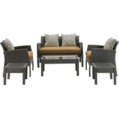 Hanover Chelsea 6 pc. Patio Set, Country Cork