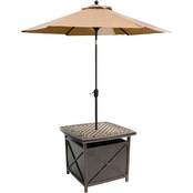 Hanover Outdoor Traditions Cast Top Side Table and Umbrella Stand