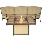 Hanover Traditions 2 pc. Outdoor Lounge Set with Tile Top Fire Pit