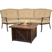 Hanover Traditions 2 pc. Outdoor Lounge Set with Durastone Fire Pit