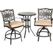 Hanover Outdoor Traditions High Dining Bistro 3 Pc. Set