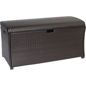 Hanover Outdoor Large Resin Deck Box for Outdoor Storage
