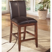 Ashley Larchmont Dining Collection Upholstered Back Counter Stool 2 Pk.
