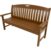 Hanover Outdoor Avalon 60 in. All Weather Bench, Teak