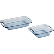 Pyrex Easy Grab Atlantic Blue 2 pc. Value Set