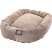 Majestic Pet Villa Collection Micro Velvet Bagel Bed