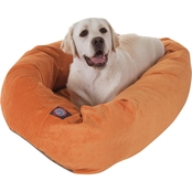 Majestic Pet Villa Collection Micro-Velvet Bagel Bed By Majestic Pet