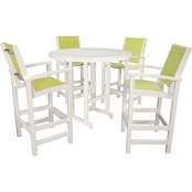 Hanover Outdoor Nassau High Dining 5 Pc. Set