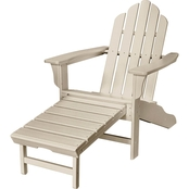 Hanover All Weather Adirondack Chair with Hideaway Ottoman