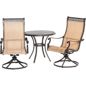 Hanover Outdoor Manor 3 Pc. Bistro Dining Set