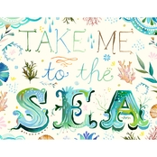 Greenbox Art 24 X 18 Take Me To The Sea Canvas Wall Art