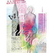 Greenbox Art 18 X 24 City Girl - New York Canvas Wall Art