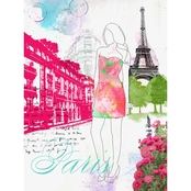 Greenbox Art 18 X 24 City Girl - Paris Canvas Wall Art