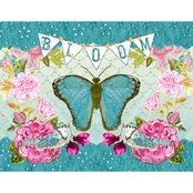GreenBox Art Bloom Butterfly Canvas Wall Art 24 x 18