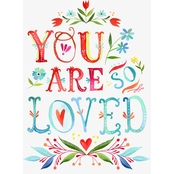 GreenBox Art You Are So Loved Canvas Wall Art 18 x 24