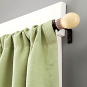 Kenney 5/8 In. Diameter Knob Curtain Rod, 48 to 86 in.