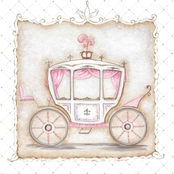 GreenBox Art Little Princess Carriage III Canvas Wall Art 10 x 10