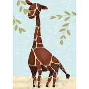GreenBox Art 10 x 14 Blue Gillespie the Giraffe Canvas Wall Art
