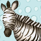 GreenBox Art Timmy the Zebra Canvas Wall Art 10 x 10