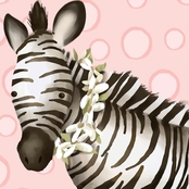 GreenBox Art Zoey the Zebra Canvas Wall Art 10 x 10