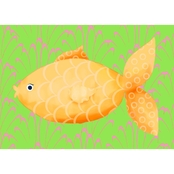 GreenBox Art Mia the Fish Canvas Wall Art 14 x 10