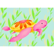 GreenBox Art Maggie the Sea Turtle Canvas Wall Art 14 x 10
