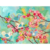 Greenbox Art Cherry Blossom Birdies Canvas Wall Art