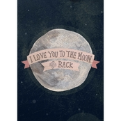 GreenBox Art 14 x 18 Pink I Love You To The Moon And Back Canvas Wall Art