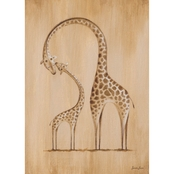 GreenBox Art Safari Kisses Giraffes Canvas Wall Art 10 x 14