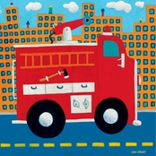 GreenBox Art 10 x 10 Fire Truck Canvas Wall Art