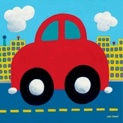 GreenBox Art Red Car Canvas Wall Art 10 x 10