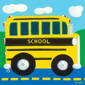 GreenBox Art School Bus Canvas Wall Art 10 x 10