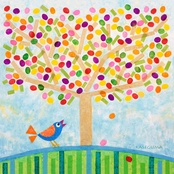 GreenBox Art Jellybean Tree Canvas Wall Art 14 x 14