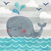 GreenBox Art 10 x 10 Let's Set Sail Whale Canvas Wall Art