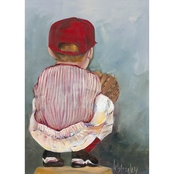 GreenBox Art Lil' Catcher Boy Canvas Wall Art 14 x 18