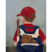 GreenBox Art Lil' Slugger Canvas Wall Art 14 x 18
