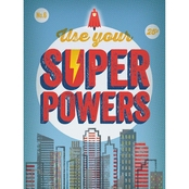 Greenbox Art 18 x 24 Use Your Super Powers Canvas Wall Art