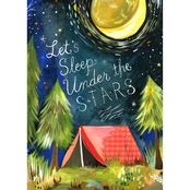 GreenBox Art Let's Sleep Under the Stars Canvas Wall Art 18 x 24