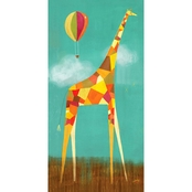 Greenbox Art 12 x 24 Too Tall Giraffe Canvas Wall Art