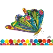 GreenBox Art Eric Carle's Fluttering Butterfly Canvas Wall Art 24 x 18