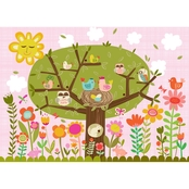 GreenBox Art Bloomin' Birdies Canvas Wall Art 24 x 18
