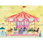 GreenBox Art 24 x 18 Carousel Canvas Wall Art